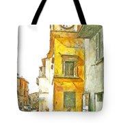 Yellow Clock Tower Tote Bag