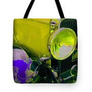 Yellow Cloud Reflection In Neon Tote Bag