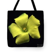 Yellow Clover Flower Tote Bag