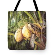 Yellow Coconuts From The Tropics  Tote Bag
