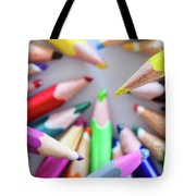 Yellow. Colored Pencils Used By Children Tote Bag