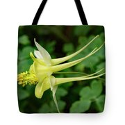 Yellow Columbine Profile Tote Bag