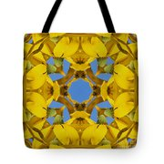 Yellow Coneflower Kaleidoscope Tote Bag