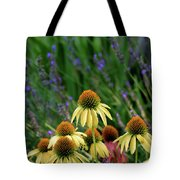 Yellow Coneflowers And Lavender 1633 H_2 Tote Bag