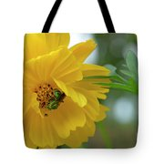 Yellow Cosmos Flower Tote Bag