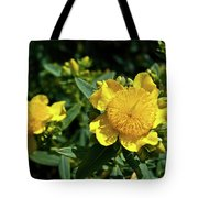 Yellow Crown Flower Tote Bag