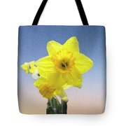 Yellow Daffodil On Canvas Tote Bag