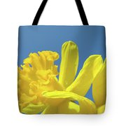 Yellow Daffodils Flowers Art Blue Sky Spring Baslee Troutman Tote Bag