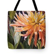 Yellow Dahlia Tote Bag by Sharon Freeman