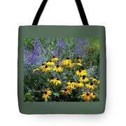 Yellow Daisies And Purple Sage Tote Bag