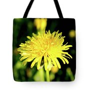 Yellow Dandelion Flower Tote Bag