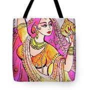 Yellow Devi Tote Bag