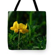 Yellow Dew Drops Tote Bag