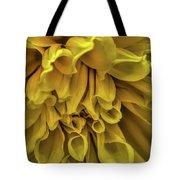 Yellow Dinner Plate Dahlia Tote Bag