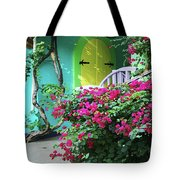 Yellow Door Tote Bag by Michael Thomas