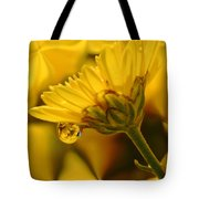 Yellow Drip Tote Bag