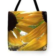 Yellow Droplet Petals Tote Bag