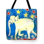 Yellow Elephant Facing Left Tote Bag by Sushila Burgess