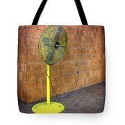 Yellow Fan Tote Bag