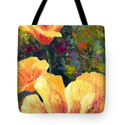Yellow Field Poppies Tote Bag