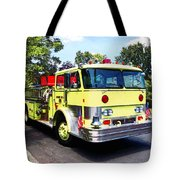 Yellow Fire Truck Tote Bag
