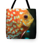 Yellow Fish Profile Tote Bag