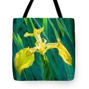 Yellow Flag Wildflower Tote Bag
