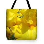 Yellow Floral Irises Flowers Art Prints Baslee Troutman Tote Bag