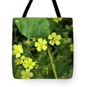 Yellow Flower And A Black Bug  Tote Bag