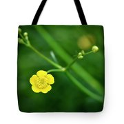 Yellow Flower Buttercup Tote Bag