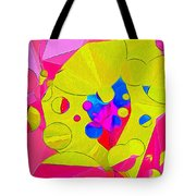 Yellow Flower In Pink Field 008 Tote Bag