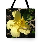 Yellow Flower In The Shade Tote Bag