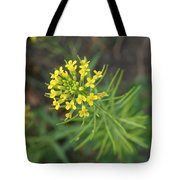 Yellow Flower Weed Tote Bag
