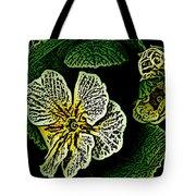 Yellow Flower Woodcut Tote Bag