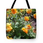 Yellow Flowers Bushes Tote Bag