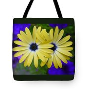Yellow Flowers Embracing Tote Bag