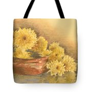 Yellow Flowers With Still Life Tote Bag