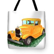 1932 Yellow Ford Hot Rod Coupe Tote Bag