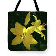 Yellow Garden Lilies Tote Bag