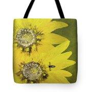 Yellow Gazanias And Bee  Tote Bag