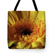 Yellow Gerbera Macro Tote Bag