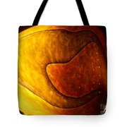 Yellow Glass Abstract Tote Bag