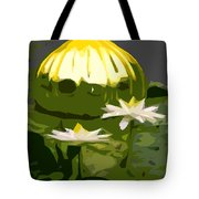 Yellow Glass With White Lilies Tote Bag