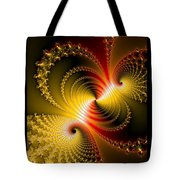 Yellow Gold Red Decorative Abstract Art Tote Bag