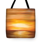 Yellow Gold Sunset Tote Bag