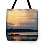 Yellow Gold Sunset Tapestry Tote Bag