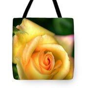 Yellow Golden Single Rose Tote Bag