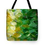 Yellow Green - Abstract Tote Bag