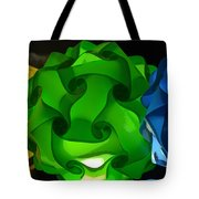 Yellow Green And Blue Tote Bag