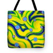 Yellow Green Blue Swirls Tote Bag